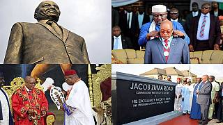 Nigerians fume over 'embarrassing' Jacob Zuma statue erected in Imo State