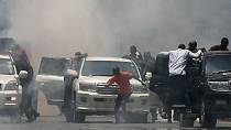 Kenya police use teargas to disperse opposition protesters in Kisumu [no comment]