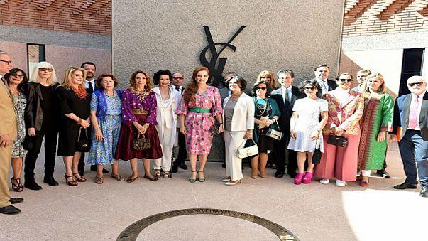 الأميرة لالة سلمى تخطف الأنظار في حفل افتتاح متحف سان لوران بمراكش