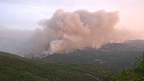 Tovább pusztít a tűz Portugáliában és Spanyolországban
