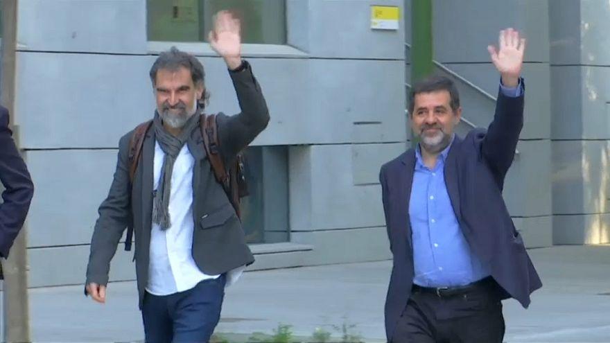Prisión sin fianza para los líderes de dos organizaciones independentistas catalanas