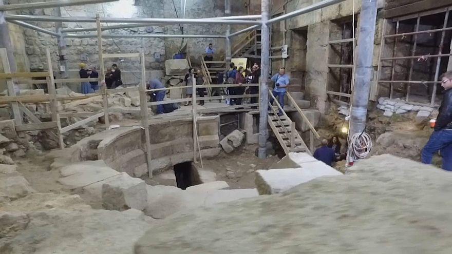 شاهد: اكتشاف مسرح روماني تحت الأرض بالقرب من الأقصى