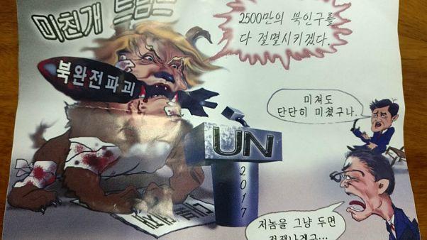 برگههای ضدترامپ 'کره شمالی با بالون' در سئول پخش شد