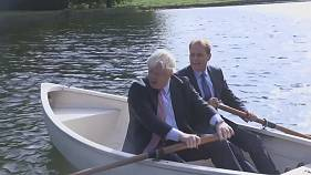 Csónakázni vitte cseh kollégáját Boris Johnson