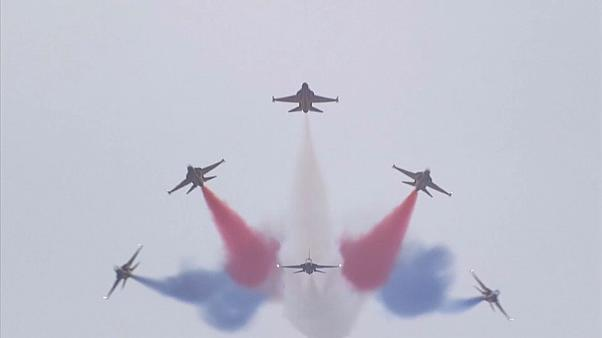 معرض للمقاتلات الحربية الأمريكية في كوريا الجنوبية والكلام برسم الجارة الشمالية