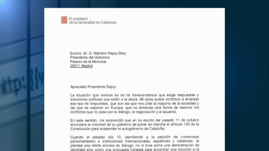 El gobierno emplaza a Puigdemont a negociar en el Congreso