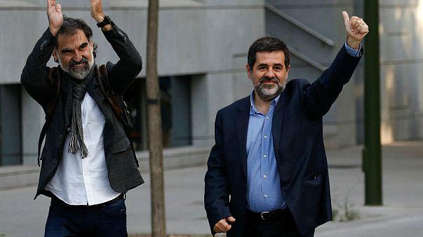 Detidos dois líderes catalães acusados de promoverem a revolta