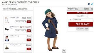 """Une """"tenue"""" d'Anne Frank, victime de la Shoah, vendue pour Halloween"""