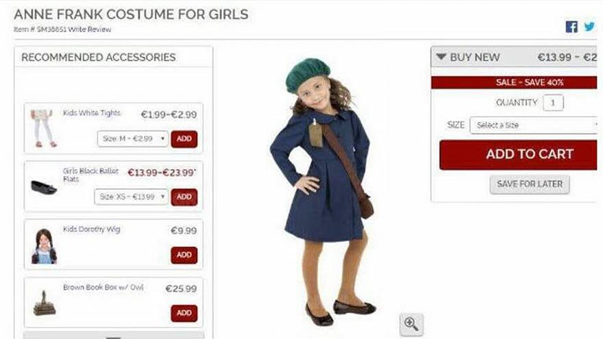 Halloween retailer pulls Anne Frank costume following backlash