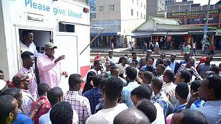 Kenyans turn up to donate blood for victims of deadly Mogadishu bomb blast