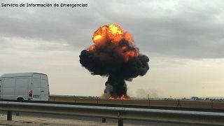Muere el piloto del F18 estrellado en la base de Torrejón de Ardoz