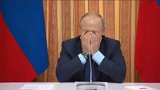 پوتین نتوانست جلوی خنده خود را بگیرد