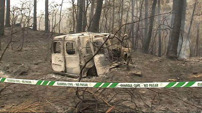 عشرات القتلى والجرحى جراء الحرائق في البرتغال واسبانيا