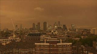 Ophelia brings mellow yellow tinge to London sky