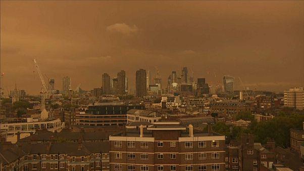 Ophelia brings mellow yellow tinge to London sky