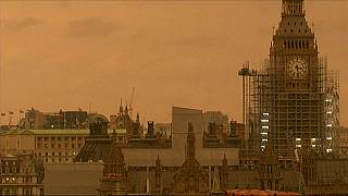 Ophelia turns London skyline orange