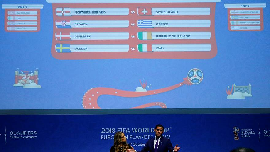 "Sorteio do ""play-off"" europeu para o Mundial"