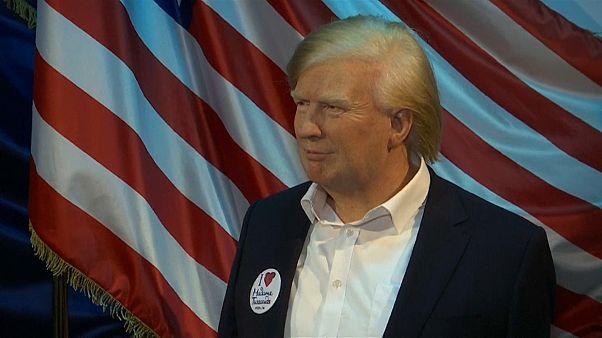 Tussauds Trump mit blonder Tolle