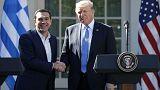 Donald Trump reçoit Alexis Tsipras à la Maison Blanche