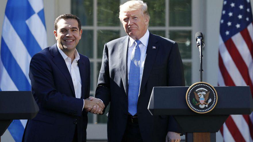 """Trump y Tsipras, la """"extraña pareja"""", en la Casa Blanca"""