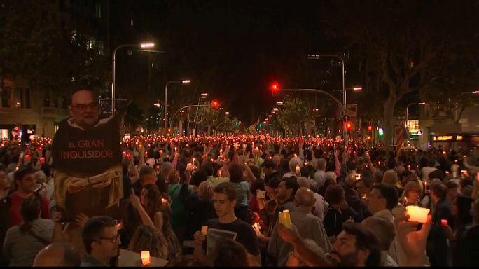 200,000 protest in Barcelona