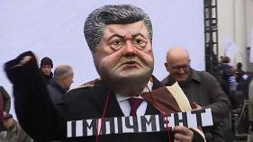 Протесты против Порошенко в Киеве
