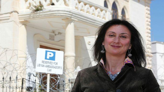 Malta pide colaboración internacional para resolver el caso de la periodista asesinada
