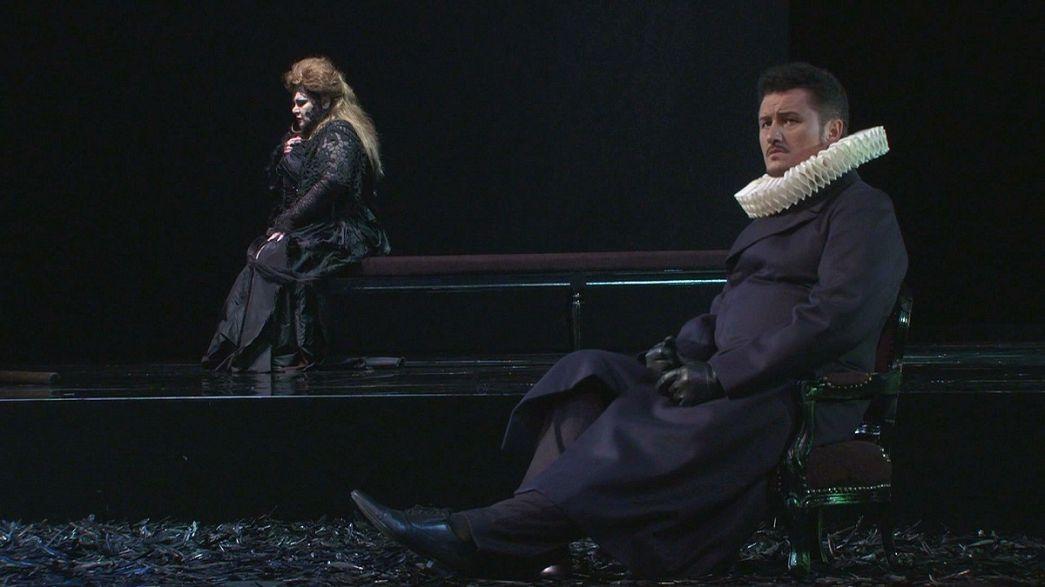A ópera de Verdi no Grande Teatro do Liceu em Barcelona