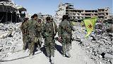 Syrie : les chars des FDS font des dérapages pour célébrer la reprise de Raqqa