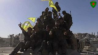 Kurds and SDF soldiers celebrate fall of Raqqa