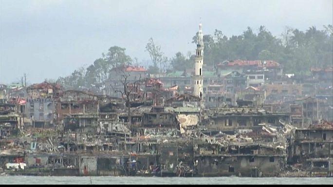 Filippine, le prime immagini di Marawi dopo la battaglia