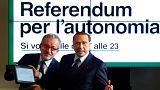 Referandum sırası İtalya'nın özerk Lombardiya bölgesinde