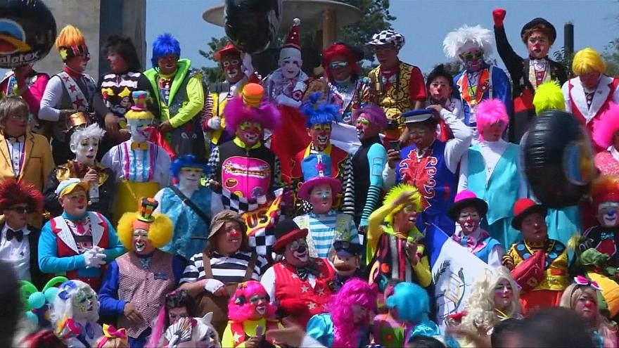 Les clowns paradent à Mexico