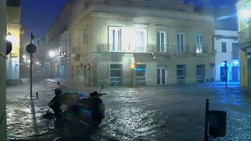 Graves inundaciones en el sur de España