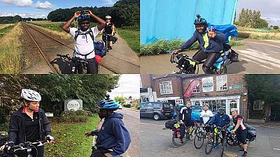 Ghanaian journalist cycles from Denmark to UK to champion safe migration