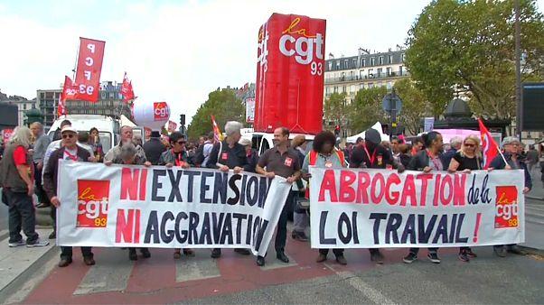 Nueva protesta en París contra la reforma laboral de Macron
