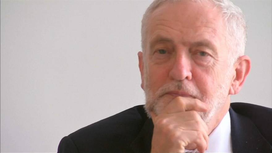 British Labour leader Jeremy Corbyn takes a different message to Brussels