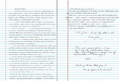 A letter sent to Janet Uhlar from Whitey Bulger while in prison, dated Aug. 12, 2018.