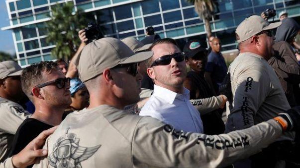 USA: Protest gegen Rede eines bekannten Rechtsradikalen