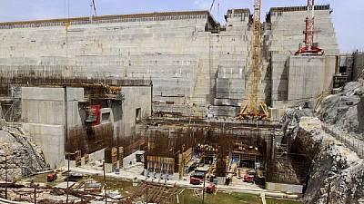 [Photos] Work at Ethiopia's GERD project; ministers meet over concerns