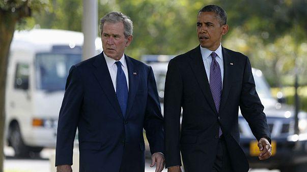 Obama volta à política e junta-se a Bush nas críticas a Trump