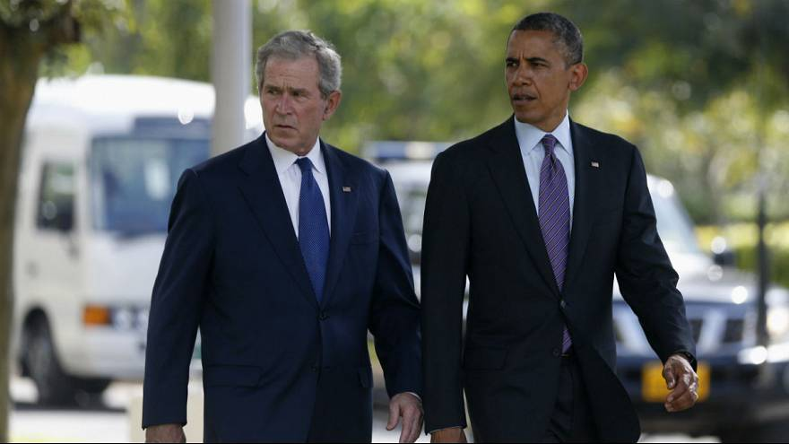Los expresidentes Bush y Obama critican a Donald Trump