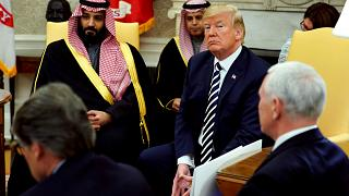 Image: President Donald Trump meets with Saudi Arabia's Crown Prince Mohamm