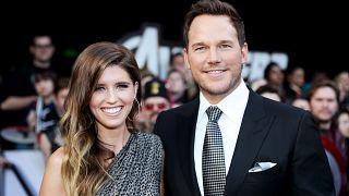 """Image: Katherine Schwarzenegger and Chris Pratt attend the premier of """"Aven"""