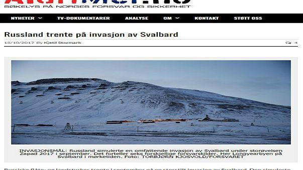 L'invasion du Svalbard simulée par l'armée russe ?