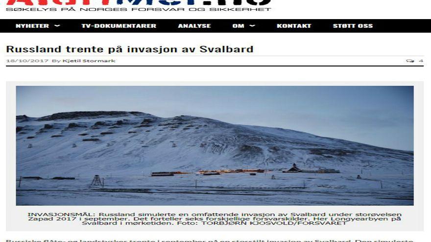 L'invasion du Svalbard simulée par l'armée russe?