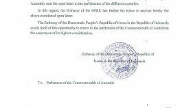 La Corea del Nord ha scritto all'Australia per chiedere aiuto contro gli USA