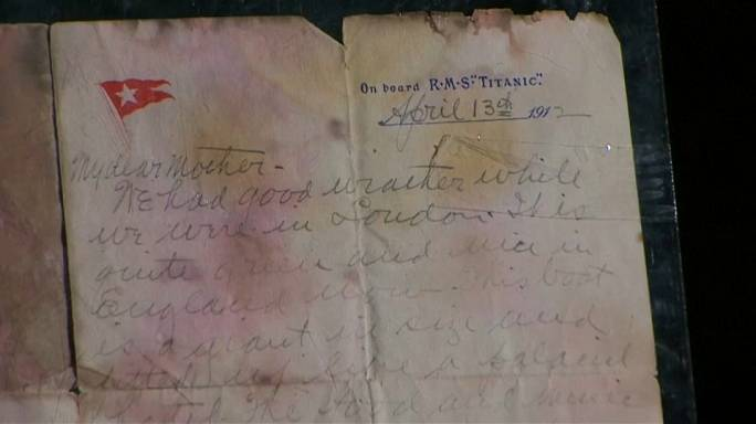 Rare letter by Titanic victim to his mother, is to be auctioned in the UK