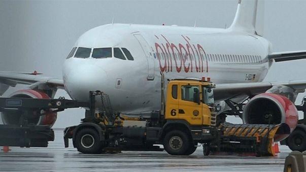 Air-Berlin-Flugzeug hängt auf Island fest