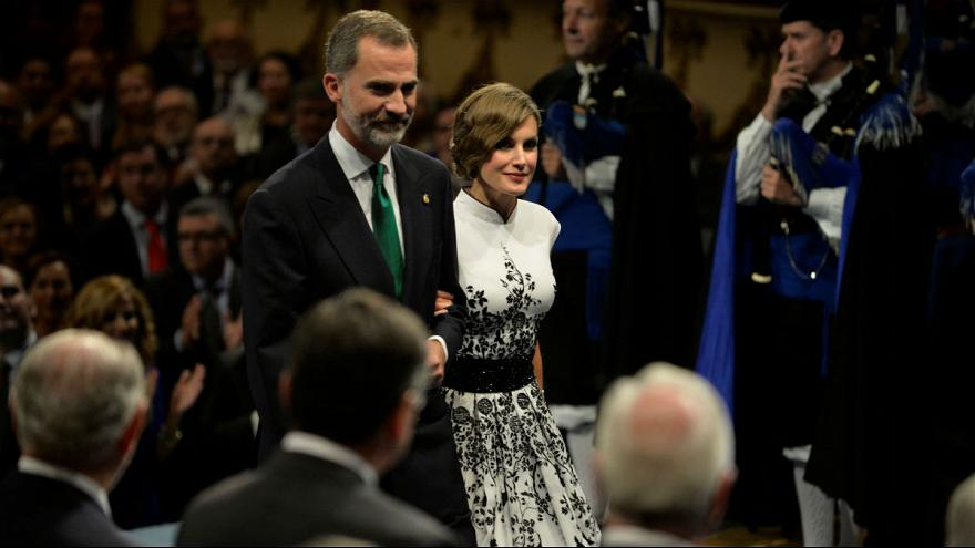 Spain's King Felipe makes political address at Princess of Asturias Awards